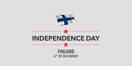 Finland independence day greeting card, banner, vector illustration