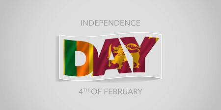 Sri Lanka happy independence day vector banner, greeting card 向量圖像