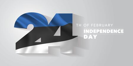 Estonia happy independence day vector banner, greeting card