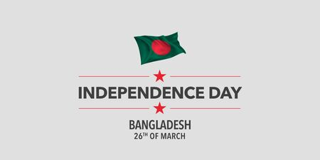 Bangladesh independence day greeting card, banner, vector illustration