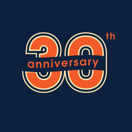 30 years anniversary vector  icon. Graphic design element with number Ilustração