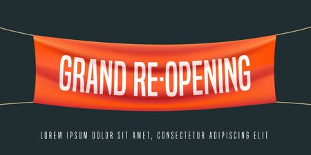 Grand opening or re-opening vector illustration, background Vettoriali