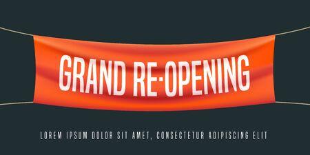 Feierliche Eröffnung oder Wiedereröffnung Vektor-Illustration, Hintergrund Vektorgrafik