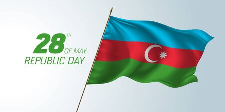 Azerbaijan happy republic day banner, greeting card