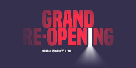 Grand opening or re-opening vector illustration, background with creative design
