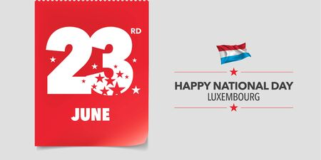 Luxembourg national day greeting card, banner, vector illustration