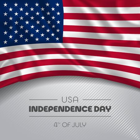 USA happy independence day greeting card, banner vector illustration Vectores