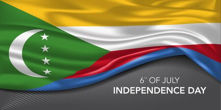 Comoros independence day greeting card, banner with template text vector illustration