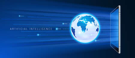 Artificial intelligence accessing global information and data in online networks via smartphone
