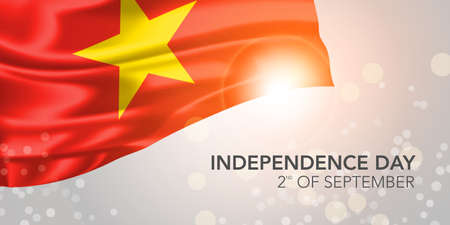 Vietnam happy independence day banner, greeting card