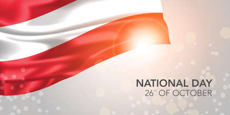 Austria happy national day vector banner, greeting card.