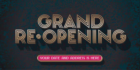 Grand opening or re opening vector illustration for new store