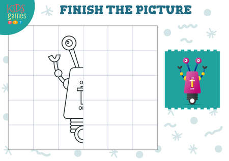 Copy and complete the picture vector blank game, illustration 矢量图像