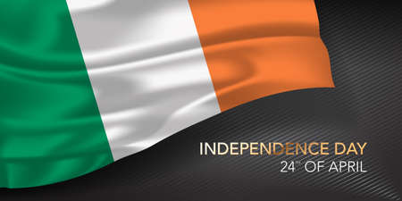 Ireland happy independence day greeting card, banner with template text vector illustration 矢量图像