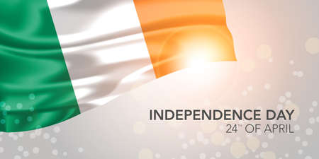 Ireland happy independence day vector banner, greeting card 矢量图像