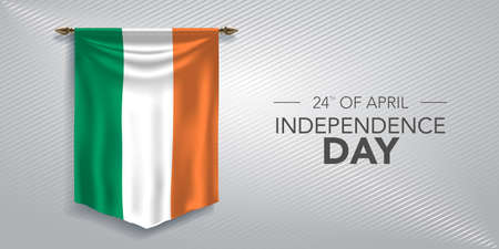 Ireland independence day greeting card, banner, vector illustration 矢量图像