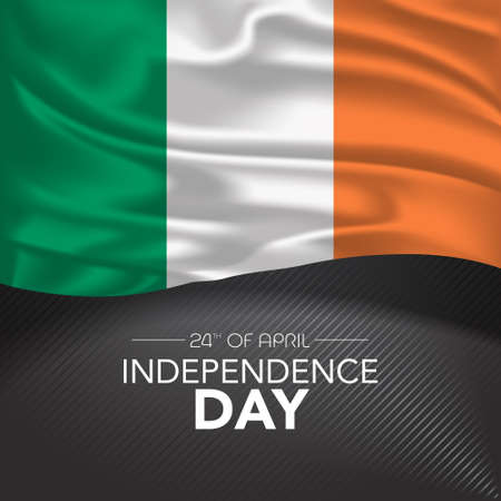 Ireland happy independence day greeting card, banner, vector illustration 矢量图像