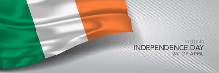 Ireland independence day vector banner, greeting card.
