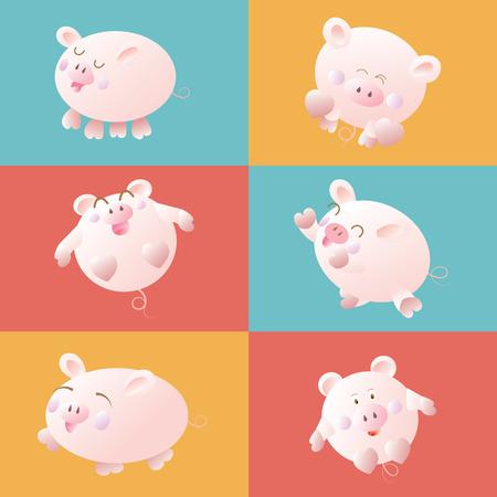 cute cartoon: cute cartoon pig