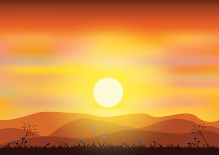 sunsets: sunsets, Vector illustrations
