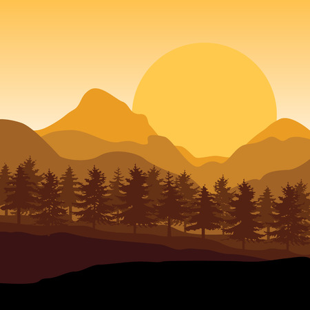 sunsets: Beautiful sunset , illustrations landscape