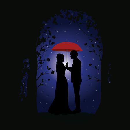 romance: Romance under the Stars, Vector illustrations