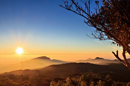 doi: Sunrise at Doi Inthanon, Chiang Mai Thailand