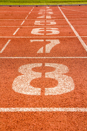 running track with number photo