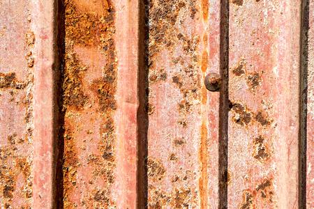 iron oxides: old corrugated iron Stock Photo