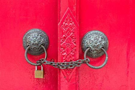 locked door Stockfoto