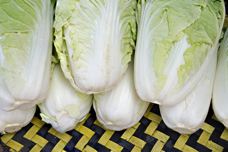 heap: Heap of chinese cabbage Stock Photo