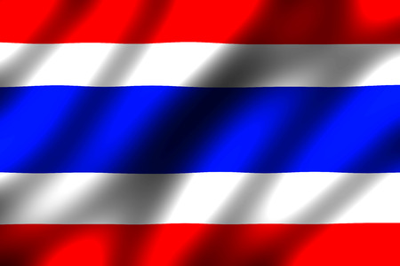 nation: Waving nation flag of Thailand Stock Photo