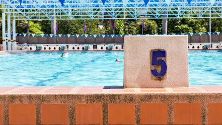 swim race: Swimming Pool Lane number 5