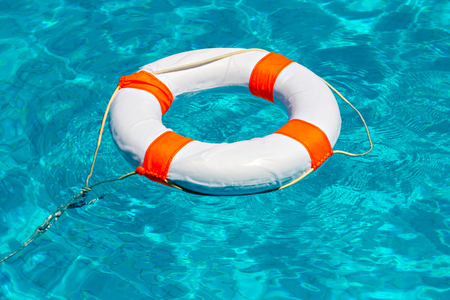life buoy: Life buoy in swimming pool