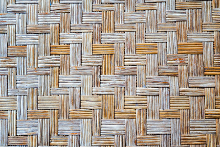 latticework: Old bamboo weave mat texture and background