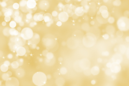 holiday backgrounds: Abstract illustration bokeh light on golden background
