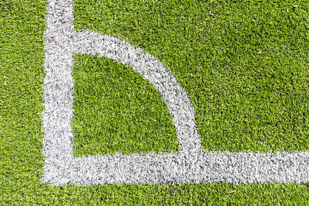 conner: Artificial turf conner with white marking line