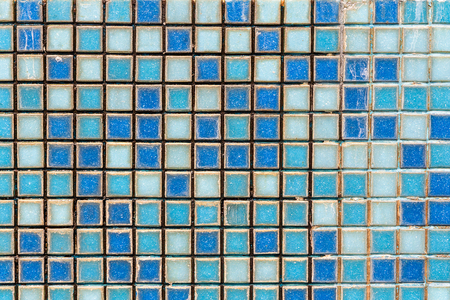 mosaic wall: Background mosaic wall in blue color