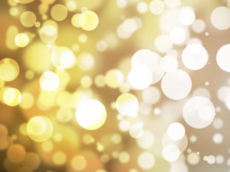 golden light: Abstract illustration bokeh light on golden background