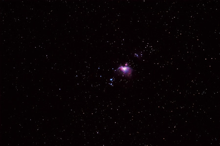 messier: Night sky with great orion nebula (M42 ) and Running Man Nebula (M43)