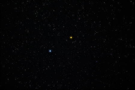 Pollux and Caster stars of Gemini constellations. Gemini is one of the constellations of the zodiac.