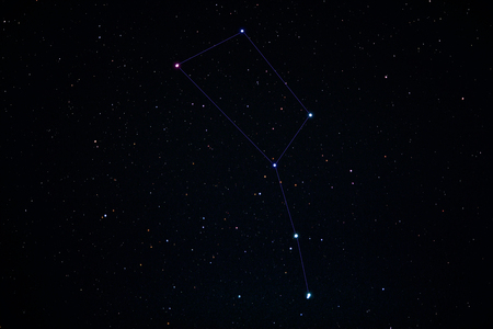 Beautiful big dipper in the Ursa Major constellation. Starry night