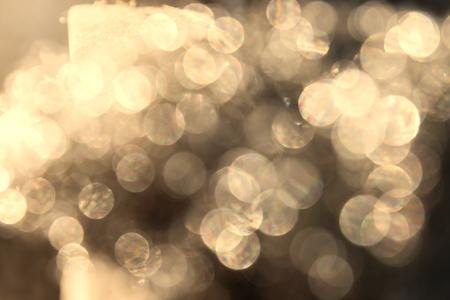 Golden Abstract bokeh light effect on background Standard-Bild - 116539915