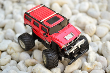 toy car: Red toy car