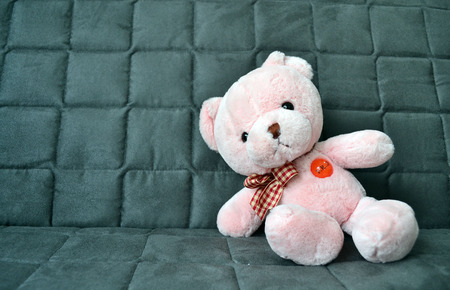 bear doll: Pink bear doll was sleeping