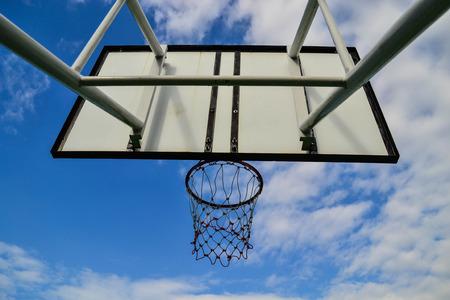 playground basketball: Basketball board with blue sky