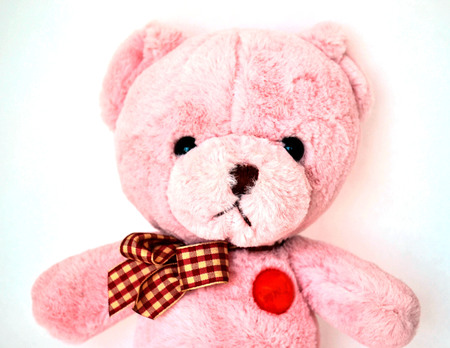 angry teddy: Pink bear doll is angry