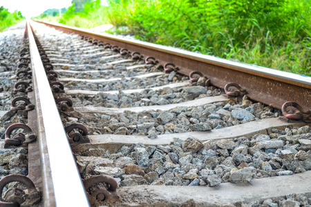railway points: The old railway, It started transportation in the old time. Stock Photo