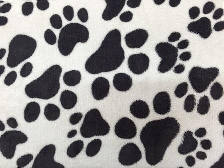 white dog: Black dog footprint on white background Stock Photo