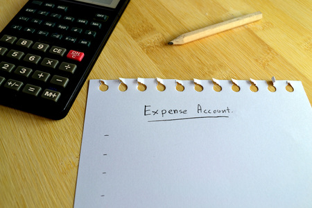 cash slips: Expense note paper on wood board